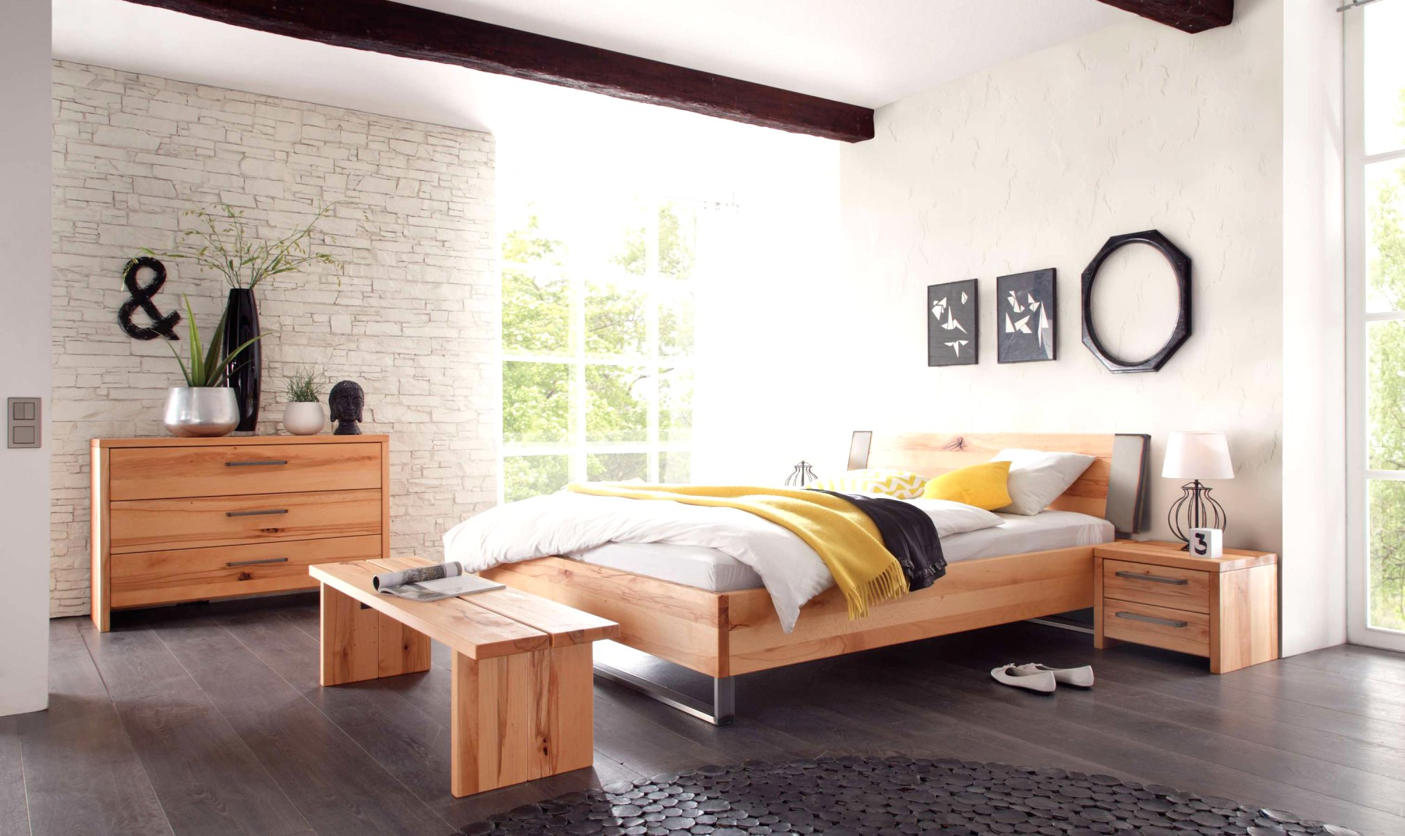 wasserbett oder gelbett komplett wood wild mit sion capa. Black Bedroom Furniture Sets. Home Design Ideas