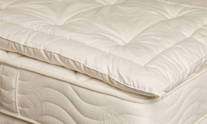 Matratzenauflage Topper mit Wollfüllung