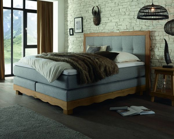 Boxspringbett Holz Romantic Ivio Arosa XL