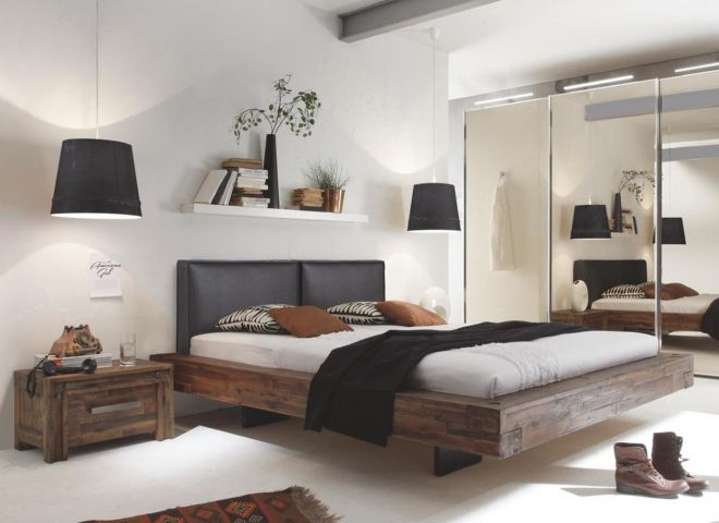 Design Akazien-Holzbett Plati