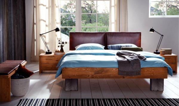 Full Size Dual Gelbett Oak-Line Cadro Quada Sena