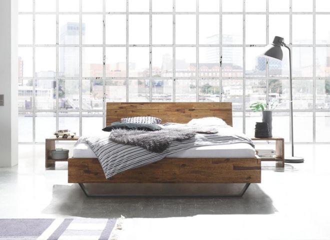 Design Akazien-Holzbett Ricardi