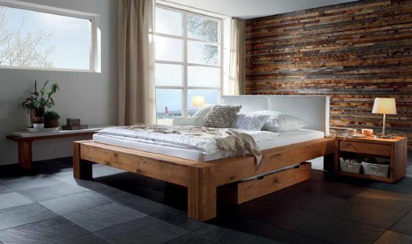 Hasena Oak-Line Wild Massivholzbett Bormio Cobo/Dorma