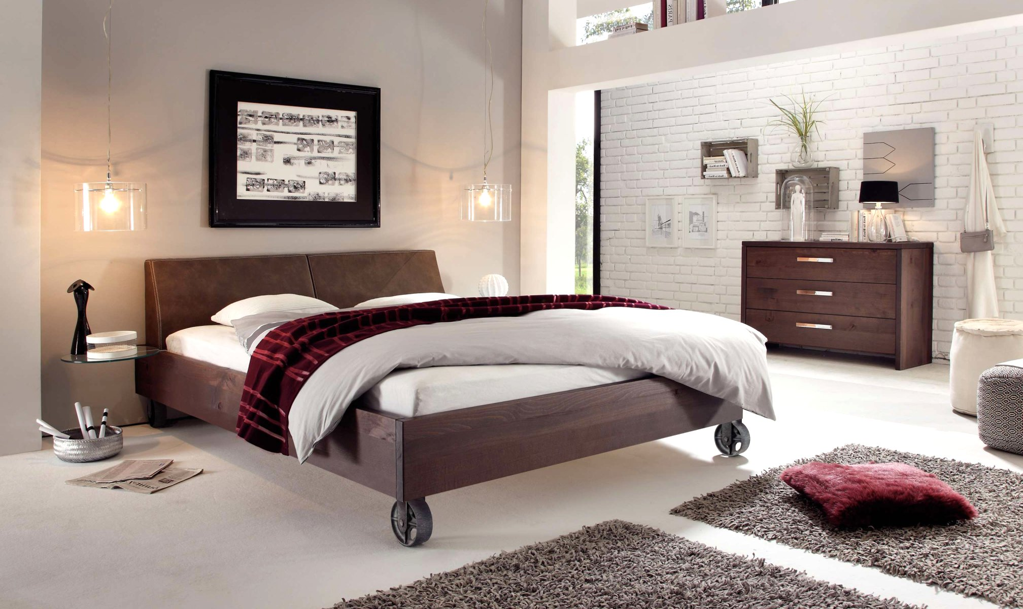wasserbett oder gelbett komplett wood line wild mit rena. Black Bedroom Furniture Sets. Home Design Ideas